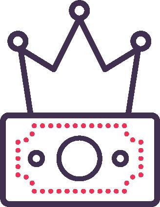 dollar king icon